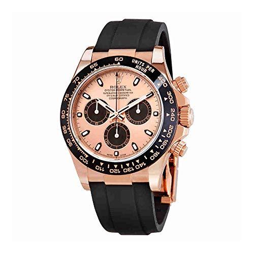Rolex Cosmograph Daytona Pink and Black Dial Mens Chronograph Oysterflex Watch 116515PBKSR (Rolex Pink Gold)