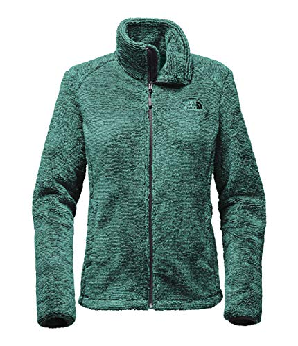 (The North Face Women's Osito 2 Jacket - TNF Black & Harbor Blue Stripe - XS (Past Season))