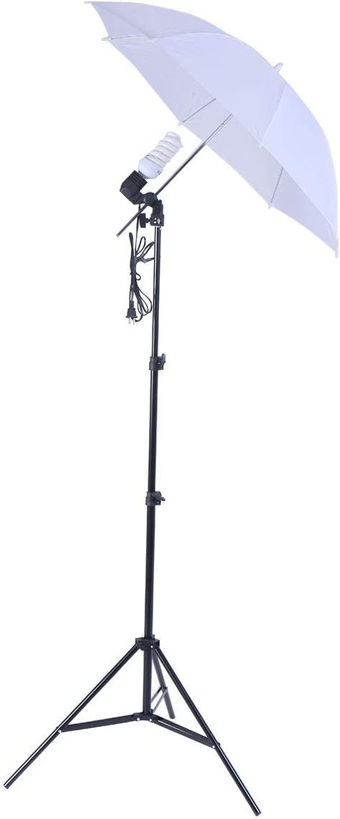 Lightweight and Easy to Set Up with Studio 45w Bulb Lighting Umbrella Photography Stand Kit Perfect to Improve The Lighting Conditions When Camera Shooting