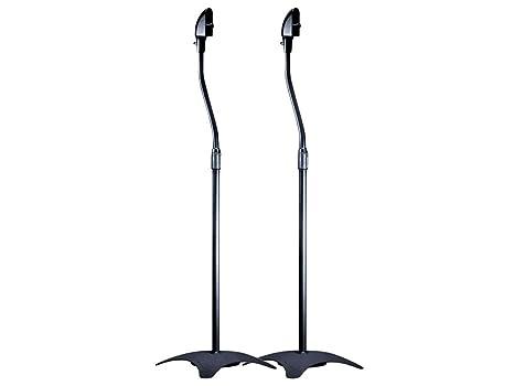 Monoprice Satellite Speaker Floor Stand Set Of 2 Black