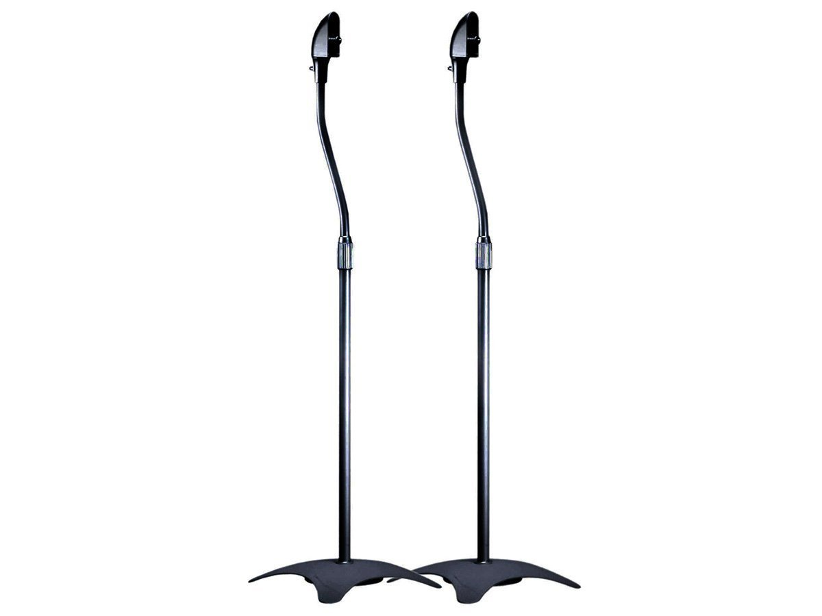 Monoprice Satellite Speaker Floor Stand (Set of 2), Black