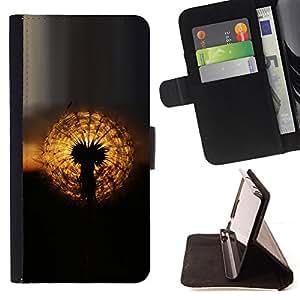 For Samsung Galaxy A3 - oduvanchik solnce zakat /Funda de piel cubierta de la carpeta Foilo con cierre magn???¡¯????tico/ - Super Marley Shop -