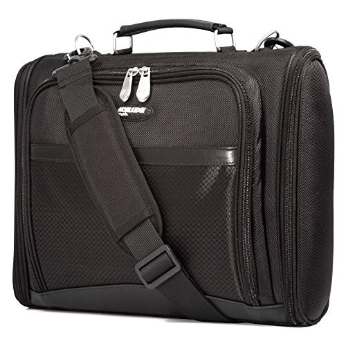 Mobile Edge Black Express 2.0 Laptop Briefcase 17.3 Inch, Front Zippered Section for Accessories, for Men, Women, Business, Students - Edge Ladies Mobile Briefcase