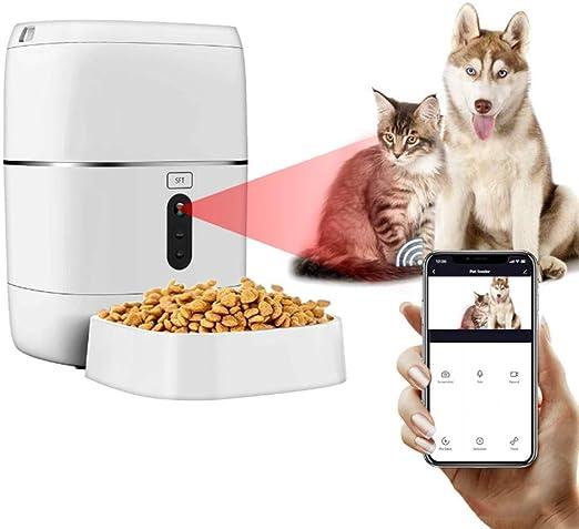 WAWZNN Comedero Automatico para Perros con Cámara 1080P, Gatos ...