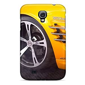 High Quality Yellow Ac Schnitzer Tension Concept Bmw Front Wheel Section Cases For Galaxy S4 / Perfect Cases