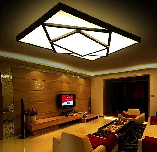 FidgetGear Modern LED Square Stack Ceiling Light Square Pendant Lamp Lighting AC 85-260V 40cm40cm10cm 20W Black Cool White(no dimming) by FidgetGear (Image #4)
