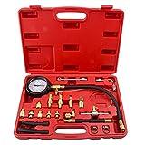 Bang4buck 20 Pcs Universal Fuel Injection Pressure Gauge Test Kit 0-140 PSI for Trucks, Cars, ATVs, Vehicles