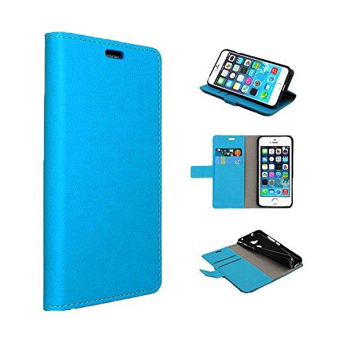 Funda para LG K8 2018,SunFay Premium Cuero PU Cover Magnético Flip Folio Ranura para Tarjetas Protective Billetera Funda Case con Stand Función para LG K8 2018 - Azul Azul