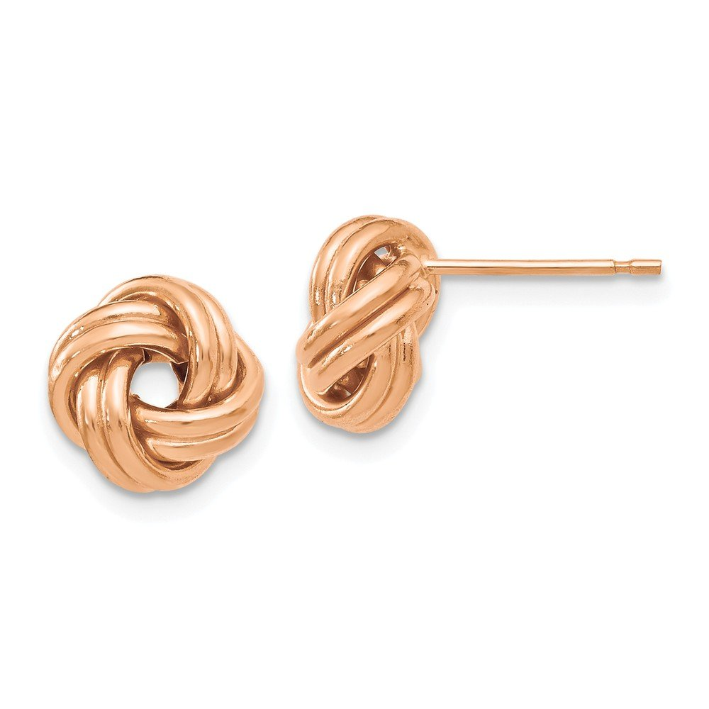 Jewelry Best Seller Leslies 14k Rose Gold Polished Love Knot Post Earrings