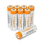 Rechargable AA Battery, TYBATT High Capacity Household AA Battery Pack 1200 Cycle AA Cell Battery (1700mAh,Ni-MH,8pack)