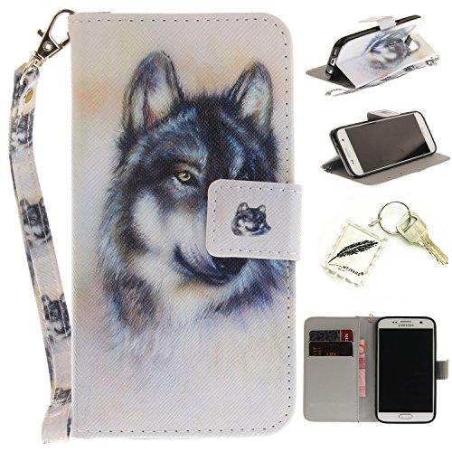 Silikonsoftshell PU Hülle für Samsung Galaxy S7 (5,1 Zoll) Tasche Schutz Hülle Case Cover Etui Strass Schutz schutzhülle Bumper Schale Silicone case