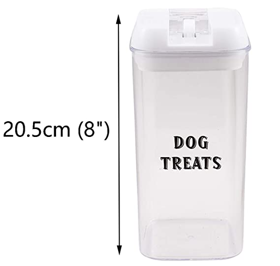 Amazon.com: Morezi - Lata de plástico transparente con tapas ...