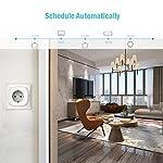 51SDgD%2BPQwL. SS150  - Meross Intelligente WLAN Steckdose Wi-Fi Steckdose, kompatibel Alexa, Google Home und SmartThings, mit App Fernsteuerung für iOS und Android, 16A-3680W, 2 Stück -
