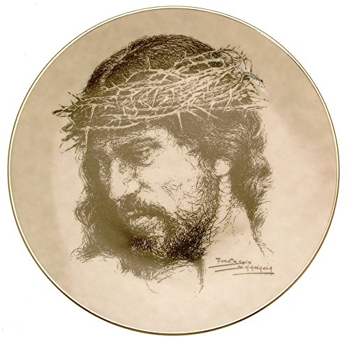 (Bradford Exchange Collector plate Portraits of Christ Weep not for me plate HJ126)
