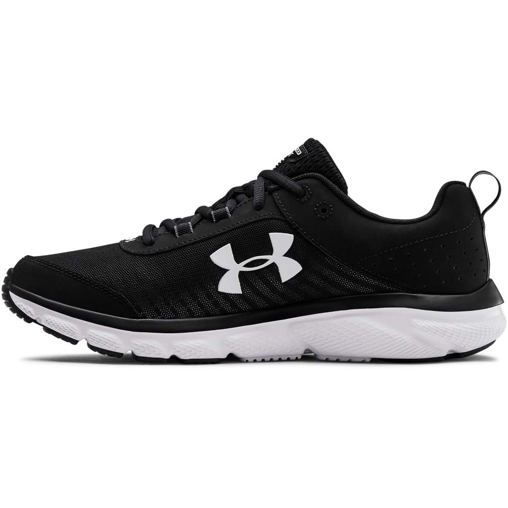 Under Armour Men's Charged Assert 8 Running Shoe, Black (001)/White, 11