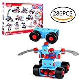 STEM Learning Toy, Meland 286pcs Take-A-Part Toy Set, Educational Construction Engineering BuildingBlocks Set with Power Drill and Wrench , Best Gift for 4 5 6 7+ Year Old Boys and Girls Kids