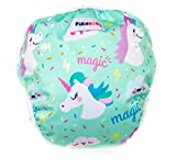 Baby swim diapers - Premium, stylish, Adjustable reusable swimming suit diapers shirt for toddler, boys and girls (Unicorn)