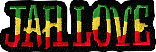(Jah Love - Bold Rastafarian Colors - Embroidered Iron On or Sew On)