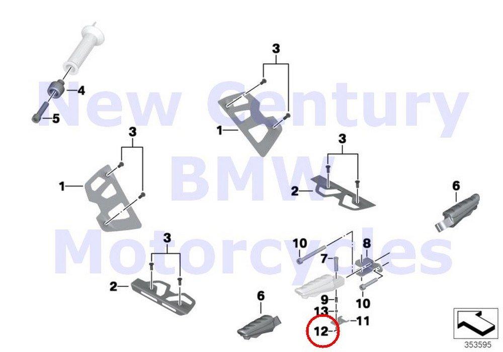4 x BMW純正Motorcycle止め輪6 r1100s r1100rt r1200 C r1200 Montauk r1200 C独立k1200lt k1200rs c600 C650gt R Nine Tスポーツr1200gs r1200gs Adventure hp2 Enduro hp2 Megamoto r1200rt r900rt B01N47XC7T