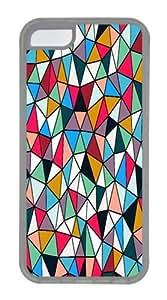geometric 03 TPU Case Cover for iPhone 5C Transparent