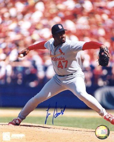(Lee Smith Autographed/ Original Signed 8x10 Color Photo as St. Louis Cardinal)