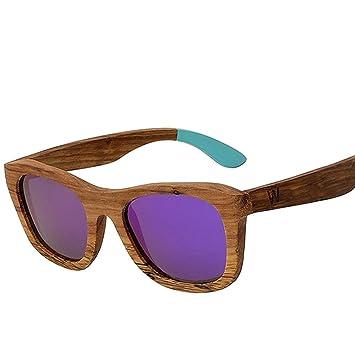 Z&YQGafas de Sol de Madera Retro polarizadas Gafas de Sol ...