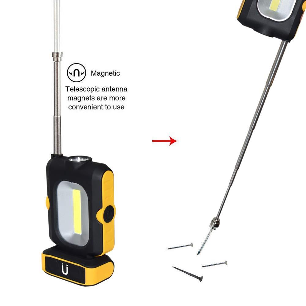 Lampe de Travail COB avec Base Magn/étique et Crochet Panne de Courant et secours Loisirs Domestiques Lampe de Poche Magn/étique /à DEL pour la R/éparation Automobile TONWON Lampe de LED Camping