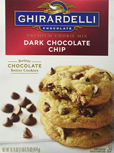 (Ghirardelli Premium Cookie Mix, Dark Chocolate Chip, 16.75-Ounce Boxes (Pack of 12))