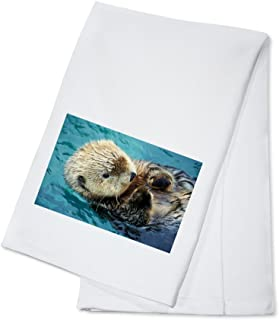 product image for Sea Otter Up Close (100% Cotton Kitchen Towel)
