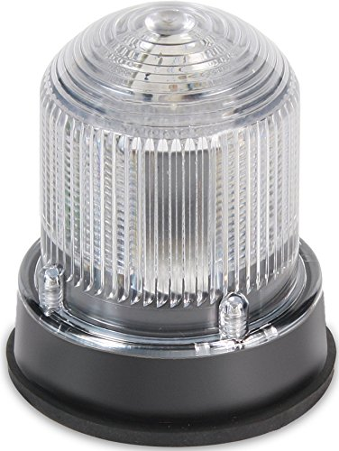 Edwards Signaling 125STRNC120AB Flashing Xenon Strobe Beacon, Corrosion Resistant Enclosure, Normal Output 175K Peak Candela, 120V AC, Black Base, Clear