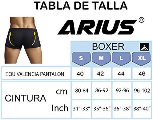 ARIUS Calzoncillo Boxer con Relleno Trasero para Aumentar el ...