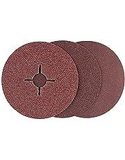 Bosch 2 609 256 254 - Juego de discos lijadores de fibra de 12 piezas para amoladora angular, corindón
