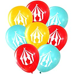 Nerdy Words Carnival Circus Tent Balloons (16 pcs)