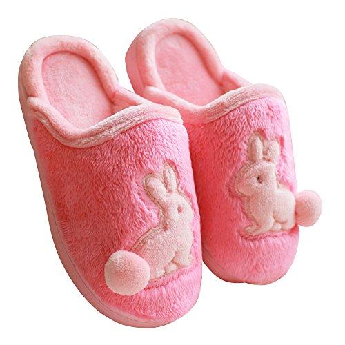 Mashcot Simpatici Conigli Morbidi Caldi E Lavabili Donne Pantofole Rosse