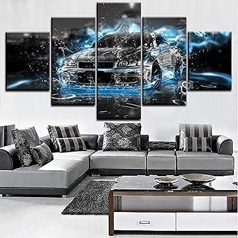 mmwin Decoración del hogar Impresión de la Lona Arte Abstracto de ...