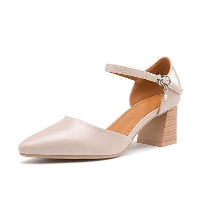 CXKS Strass Femmes Chaussures Sandales de Mode Été Hauts Talons en Cuir Véritable, Or, 6