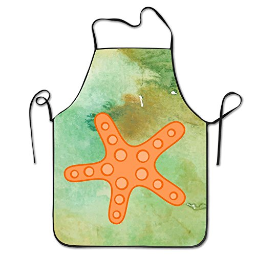 starorlando Art Cute A Sea Star Starfish Gift BBQ Kitchen Cooking Apron