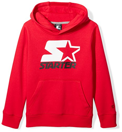 Starter Boys' Pullover Multi-Color Logo Hoodie, Amazon Exclusive, Team Red, XL (16/18)