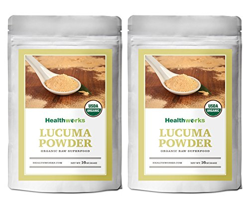 Healthworks Lucuma Powder Raw Organic, 2lb (2 1lb Packs)