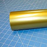 """12"""" x 10 Ft Roll of Glossy Oracal 651 Metallic Gold Vinyl for Craft Cutters and Vinyl Sign Cutters"""