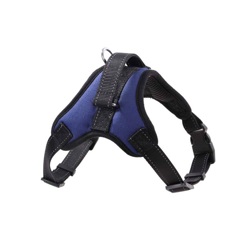 bluee 72-90cm bluee 72-90cm Dog Harness is Suitable for Large and Medium-Sized Dogs. It is Available in A Variety of colors and Can Be Selected in Four Different Sizes. Red [Gift Rope] (color   bluee, Size   72-90cm)