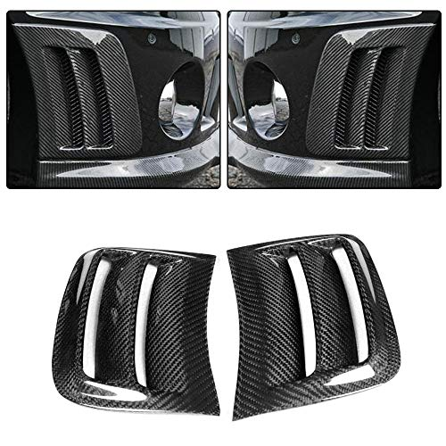 (jcsportline C63 CF Side Air Fender Vent Cover,fits Mercedes Benz W204 C63 AMG Bumper 2008-2011 Carbon Fiber Air Intake Cover Factory Outlet Side Splitters Spoiler)
