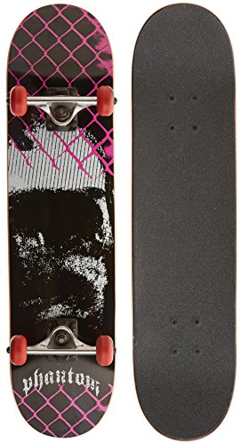 Phantom Truck Co. Complete Skateboard (Dungeon Pink,7.625-Inch)