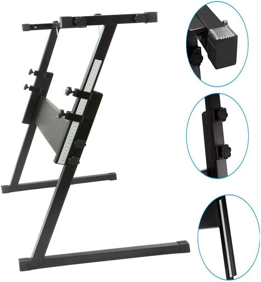 """32"""" Heavy Duty & Adjustable Z-Shape Keyboard Stand Electric Piano Rack Stand Folding Music Piano Keyboard Metal Stand"""