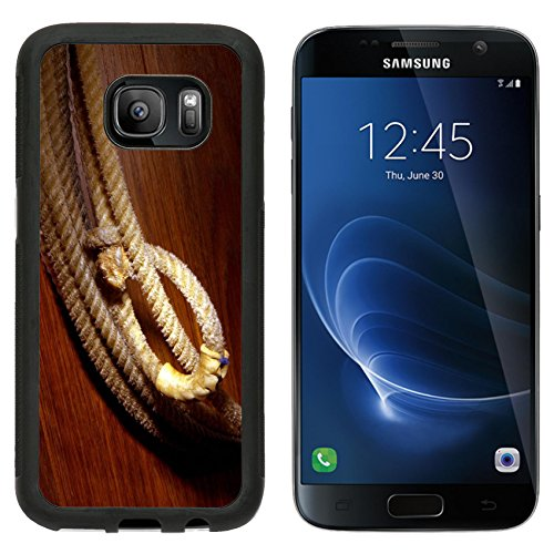Premium West Sd Card (MSD Premium Samsung Galaxy S7 Aluminum Backplate Bumper Snap Case IMAGE ID: 1703826 Hondo loop on a western cowboy rodeo lasso)