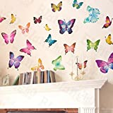 Butterfly World - Wall Decals Stickers Appliques Home Decor