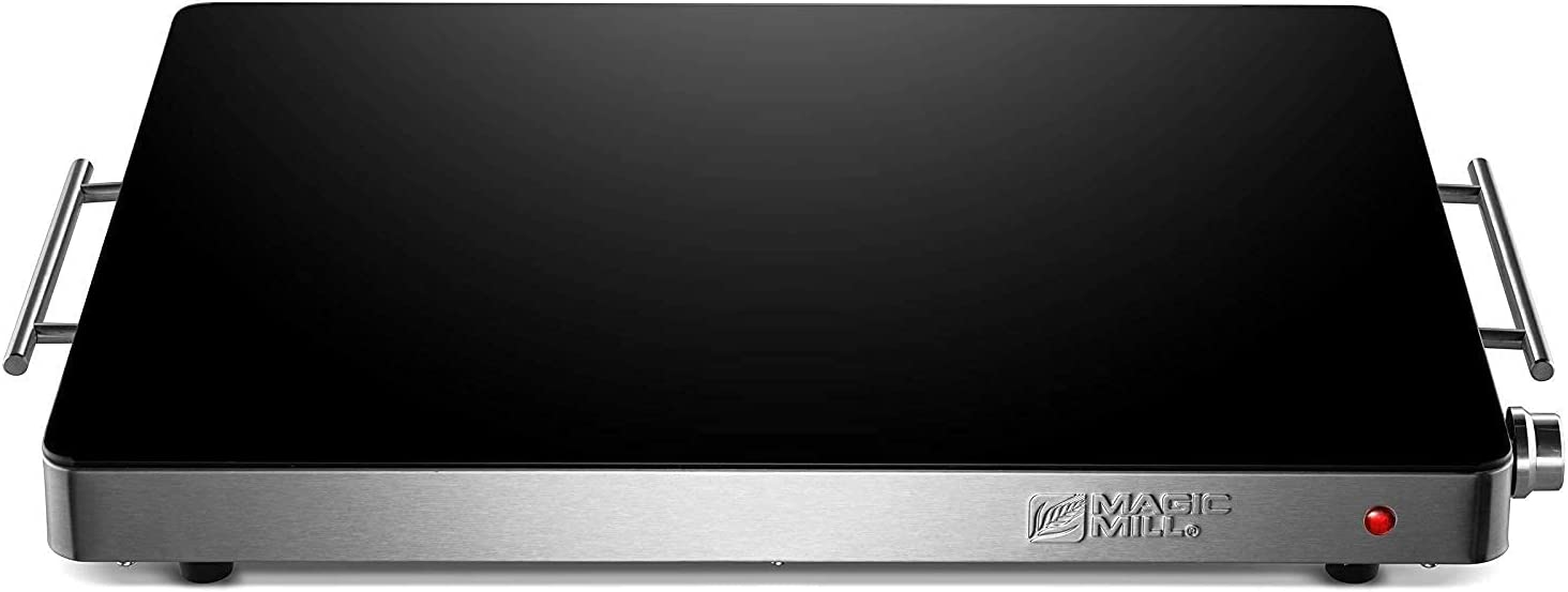 Magic Mill Extra Large Food Warming Tray | Electric Server Hot Plate, with Adjustable Temperature Control, for Buffets, Party, Restaurants, House Parties, Party Events (21