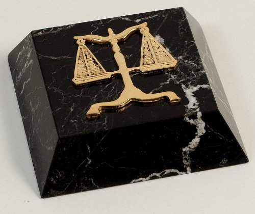 Law Paperweight (Paperweights - Scales of Justice Marble Paperweight - Legal Profession Paperweight - Desk Accessory - Lawyer Gifts)
