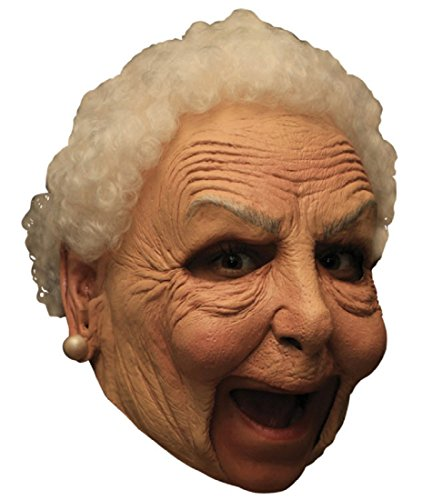 Little Old Nanny Deluxe Chinless Mask (Lady Costume Mask)