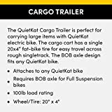 QuietKat 20QKCTSW Rear Cargo Trailer, Single Track